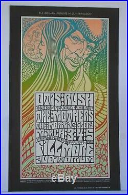 BG53-OP1 Otis Rush The Mothers Fillmore Concert Poster Bill Graham