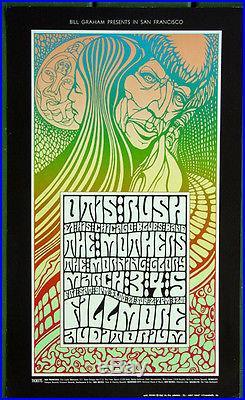 BG53 Otis Rush MOTHERS 1967 Original Fillmore Concert Poster Wes Wilson art