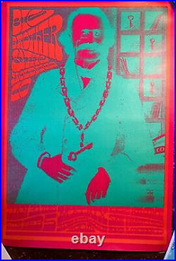 BIG BROTHER & THE HOLDING CO NEON ROSE 1967 concert poster MATRIX VICTOR MOSCOSO