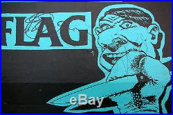 BLACK FLAG Norway Center SEATTLE 1984 CONCERT POSTER Punk AUTOGRAPHED Nirvana