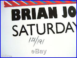BRIAN JONESTOWN MASSACRE Original S/N 2006 Concert Poster by Lindsey Kuhn