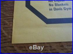 BRUCE SPRINGSTEEN Original Oversize 1975 Concert Poster Mint Cond. 17 1/2 x 23