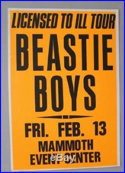 Beastie Boys Denver 1987 Original Concert Poster Cardboard Mammoth
