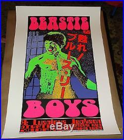 Beastie Boys silkscreen concert poster silkscreen KOZiK
