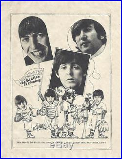 Beatles 1966 Rare Original Next to last Concert Handbill LA. Calif