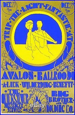 Big Brother, Quicksilver Concert Poster, Avalon Ballroom, 1966