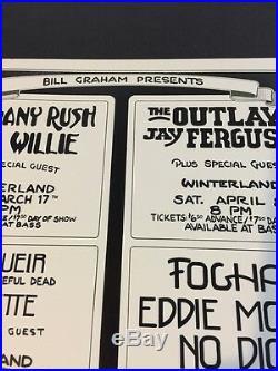 Bill Graham Concert Poster 1978 David Bowie, Foghat, Autographed Randy Tuten
