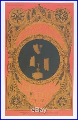 Bill Graham Concert Poster BG 63 Fillmore, Jefferson Airplane, 1967, 1st Print