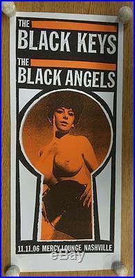 Black Keys Angels Nashville 2006 Original Concert Poster Print Mafia Silkscreen