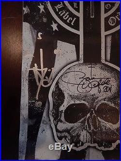 Black Label Society Signed Autographed Concert Tour Vinyl Poster Zakk Wylde
