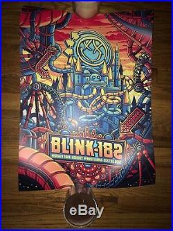 Blink 182 Poster Rare Linkin Park Blinkin Park Concert Hershey, PA 7/30/17