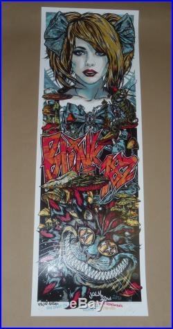 Blink 182 Rhys Cooper San Diego signed concert poster art print 2016 Alice