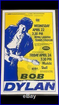 Bob Dylan 1992 Original Vintage Hawaii Concert Poster