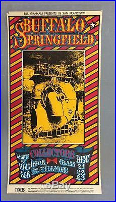 Buffalo Springfield Fillmore 1967 Bg98 Concert Poster Neil Young Original