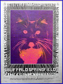 Buffalo Springfield The Eighth Penny Matter Original Denver Concert Poster1967