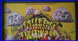 CCR Fleetwood Mac Albert Collins 1st Print Concert Poster 1969 Fillmore West