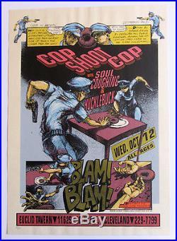 COP SHOOT COP screen print concert poster by DEREK HESS (Signed 80/250 1994 1st)