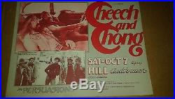 Cheech And Chong And The Persuasions Gary Grimshaw Concert Poster Original Print
