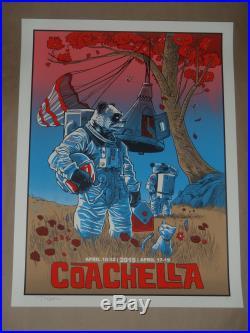 Coachella Tim Doyle signed Artist Proof concert poster 2015 screen print AP