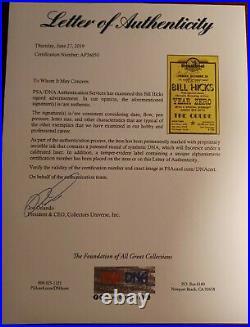 Comedian BILL HICKS Signed Autograph Concert Poster PSA DNA Full LOA RARE GRAIL