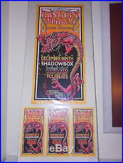 Concert Posters by Arminski ORIGINAL ARMINSKI POSTER CARD SET 1994 Volebeats