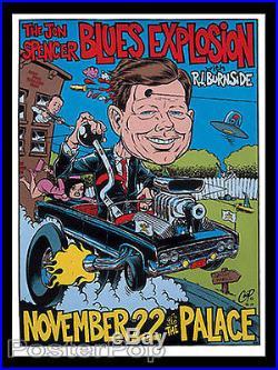 Coop Signed Jon Spencer Silkscreen Concert Poster 1996 Hot Rod JFK Kennedy Mint