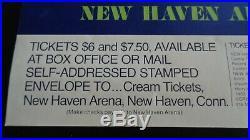 Cream New Haven 11th October 1968 Original Silkscreen Concert Poster