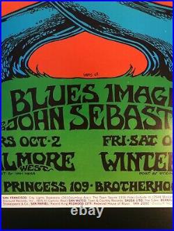 Crosby Stills Nash & Young 1969 Bill Graham Concert Poster BG-194