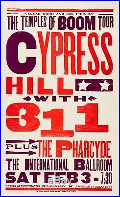 Cypress Hill, 311 & Pharcyde Hatch Show Print Concert Poster @ Atlanta, GA 1996