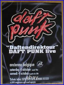DAFT PUNK original concert poster'97 french touch