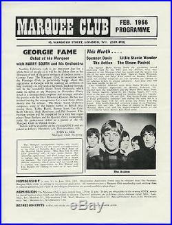 DAVID BOWIE Rod Stewart STEVIE WONDER Elton John Original 1966 Concert Handbill