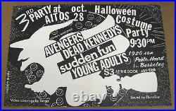 DEAD KENNEDYS Avengers SUDDEN FUN Young Adults Original 1978 Concert Poster