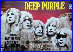DEEP PURPLE 1971 Plakat In Concert In Rock Tour Poster Offenbach