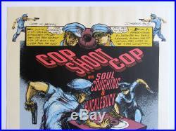 DEREK HESS screen print concert poster COP SHOOT COP (1994, Signed #80/250)