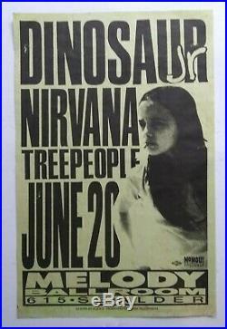 DINOSAUR JR. NIRVANA Original Concert Flyer Poster'91 Pearl Jam Soundgarden TAD