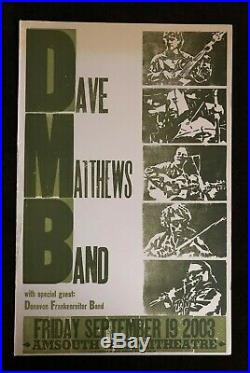 Dave Matthews Band Hatch Show Print Concert Poster @ AmSouth Nashville 2003 DMB