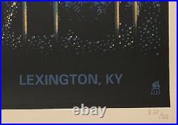 Dave Matthews Band Poster lexington concert railbird 8/29 methane studios
