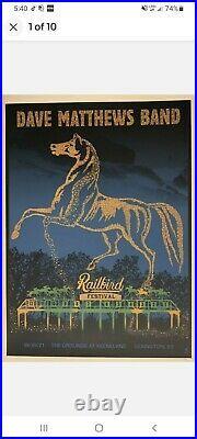 Dave Matthews Band Poster lexington concert railbird 8/29 methane studios #/515