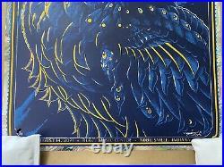 Dave Matthews Band White Swirl Foil Edition AP Concert Poster Noblesville