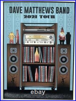 Dave Matthews Band tour Poster 2021 concert dmb limited edition blue variant