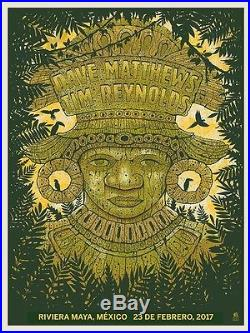 Dave Matthews Tim Reynolds Methane Maya Mexico 2/23 2017 N1 Concert Poster Print