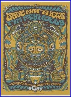 Dave Matthews & Tim Reynolds Night #3 Concert Poster, Rivera Maya 2/25/17 #608