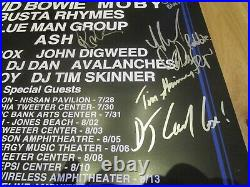 David Bowie Area2 Concert Poster Signed By All Artists Promo 2002 -Moby, Busta