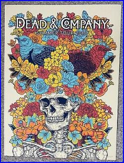 Dead & Company 2018 Summer Tour Vip Silkscreen Concert Poster Signed Vogl