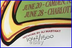Dead & company poster 2019 concert tour grateful dead art 1057/1500 aj masthay