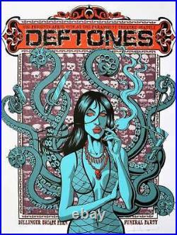 Deftones Concert Poster Justin Hampton P/P Portland 2011