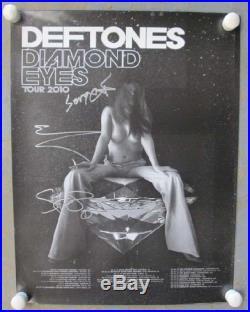 Deftones Diamond Eyes 2011 Concert Poster Signed Coa Autograph Original