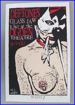 Deftones Glass Jaw Denver 2000 Original Concert Poster Kuhn Silkscreen