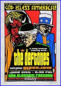 Deftones Poster with Glassjaw 2000 Concert