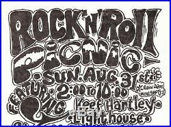 Detroit MI GRANDE BALLROOM ERA Original Concert Poster ROCK & ROLL PICNIC